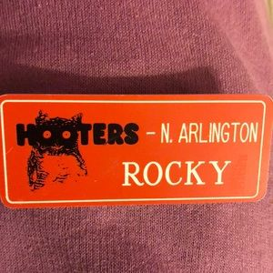 Hooters Name Tag